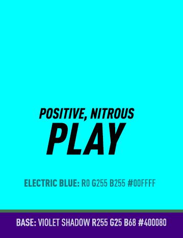 Colour Palette Play Positive Nitrous Electric Blue