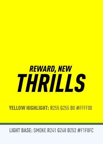 Colour Palette Thrills Reward new yellow highlight