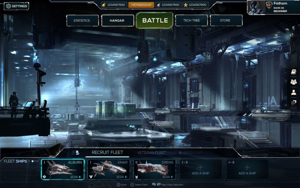 Free work of a UI Spaceship Game