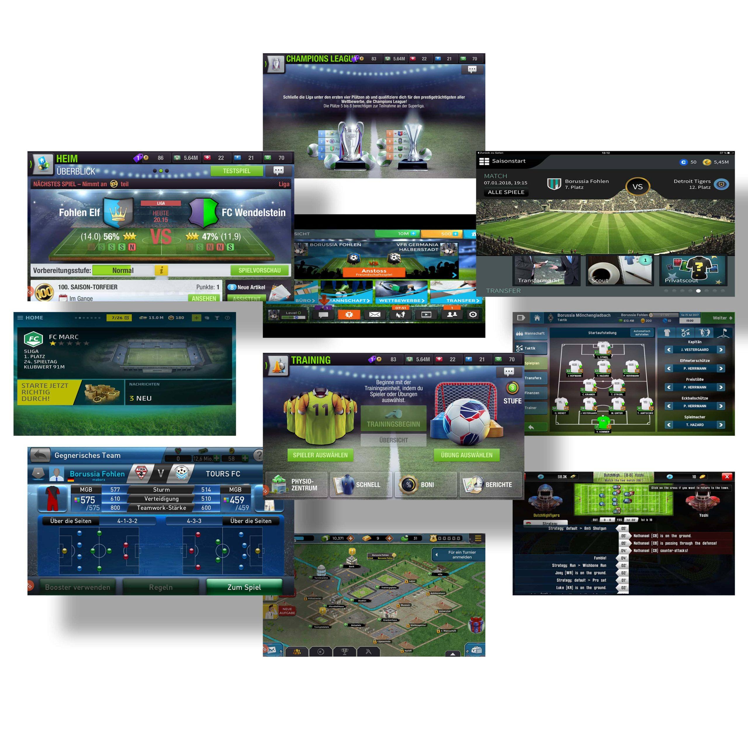 Research on mobile Football strategy games