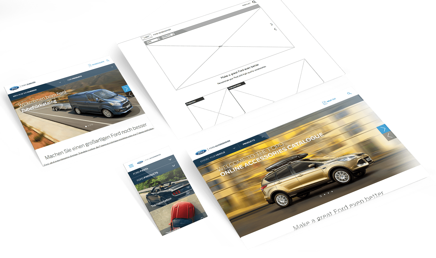 Ford online accessory catalogue responsive design