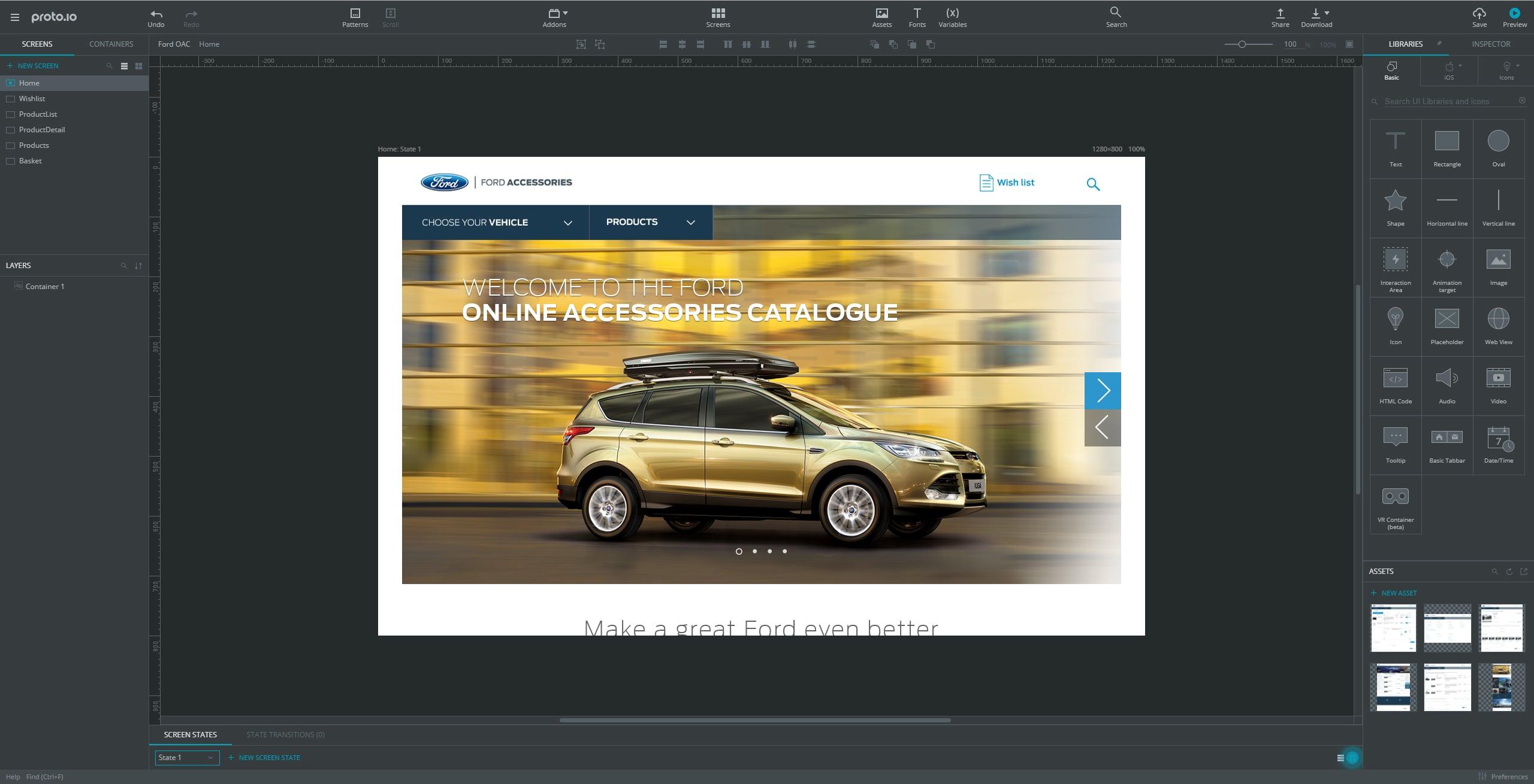 Ford online accessory catalogue proto io prototype