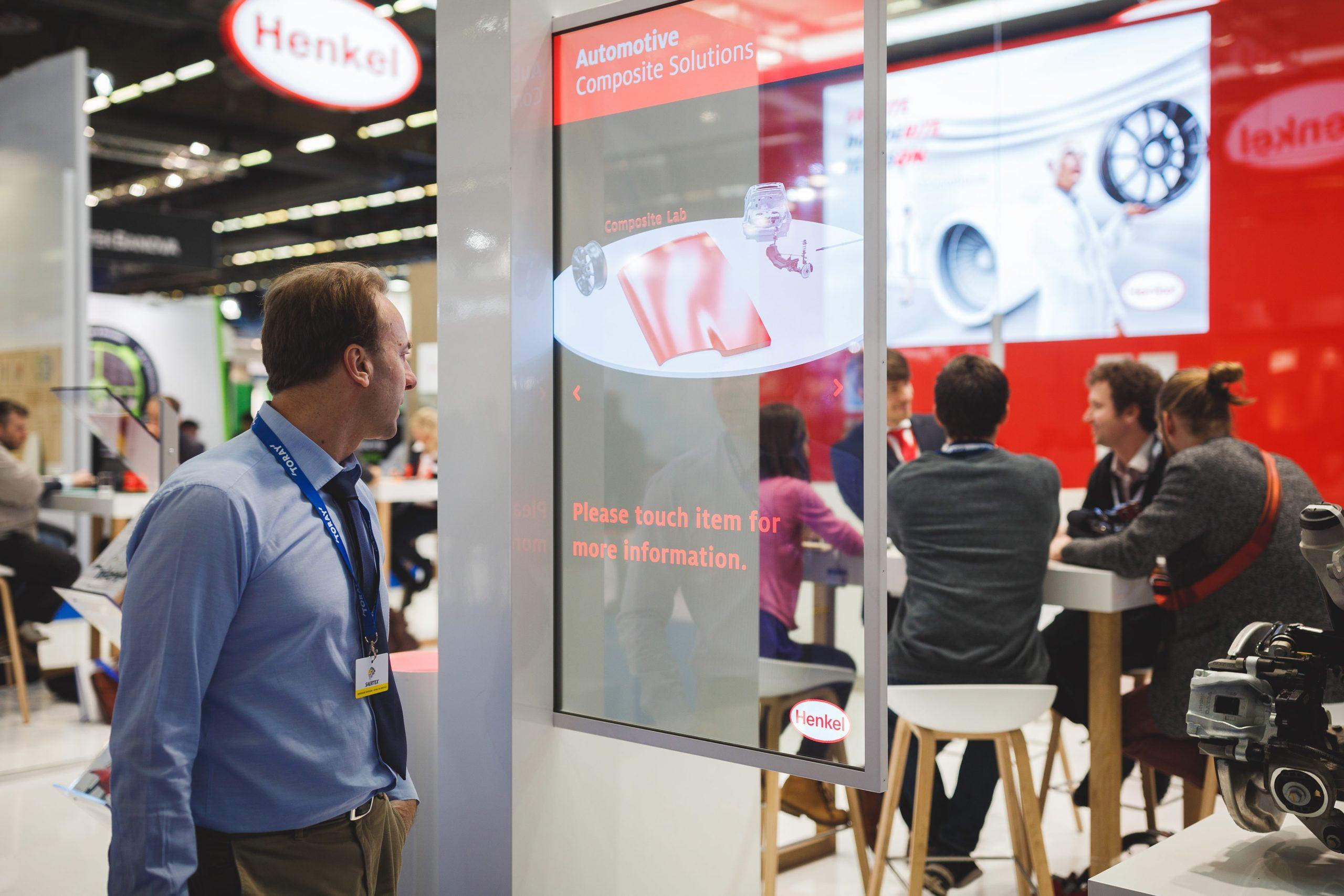 henkel booth OLED screen customer